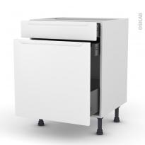 Meuble de cuisine - Range épice - PIMA Blanc - 3 tiroirs - L60 x H70 x P58 cm