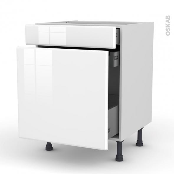 Meuble de cuisine - Range épice - IRIS Blanc - 3 tiroirs - L60 x H70 x P58 cm