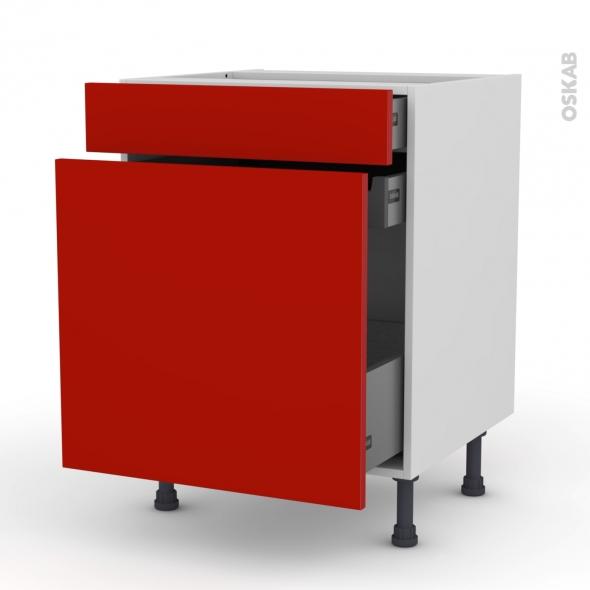 GINKO Rouge - Meuble range épice - 3 tiroirs - L60xH70xP58