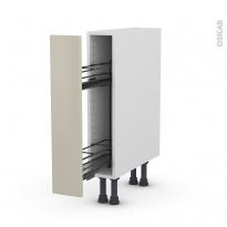 SILEN Argile - Meuble range épice epoxy  - 1 porte - L15xH70xP58