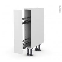 Meuble de cuisine - Range épice epoxy - GINKO Blanc - 1 porte - L15 x H70 x P58 cm