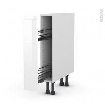Meuble de cuisine - Range épice epoxy - IPOMA Blanc - 1 porte - L15 x H70 x P58 cm