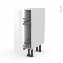 IPOMA Blanc - Meuble range épice epoxy  - 1 porte - L15xH70xP58