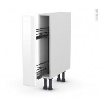 IRIS Blanc - Meuble range épice epoxy  - 1 porte - L15xH70xP58