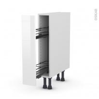 Meuble de cuisine - Range épice epoxy - STECIA Blanc - 1 porte - L15 x H70 x P58 cm