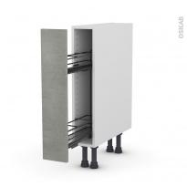 Meuble de cuisine - Range épice epoxy - FAKTO Béton - 1 porte - L15 x H70 x P58 cm