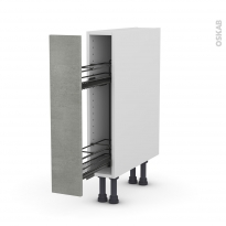 FAKTO Béton - Meuble range épice epoxy  - 1 porte - L15xH70xP58