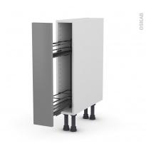 Meuble de cuisine - Range épice epoxy - FILIPEN Gris - 1 porte - L15 x H70 x P58 cm