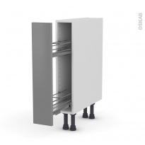 FILIPEN Gris - Meuble range épice epoxy  - 1 porte - L15xH70xP58