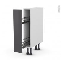 Meuble de cuisine - Range épice epoxy - GINKO Gris - 1 porte - L15 x H70 x P58 cm
