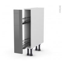 STECIA Gris - Meuble range épice epoxy  - 1 porte - L15xH70xP58