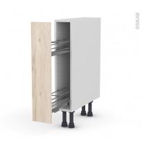 IKORO Chêne clair - Meuble range épice epoxy  - 1 porte - L15xH70xP58