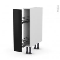 Meuble de cuisine - Range épice epoxy - GINKO Noir - 1 porte - L15 x H70 x P58 cm