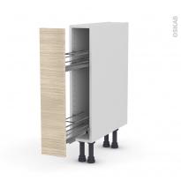 STILO Noyer Blanchi - Meuble range épice epoxy  - 1 porte - L15xH70xP58