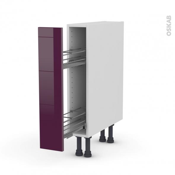 KERIA Aubergine - Meuble range épice epoxy  - 1 porte - L15xH70xP58