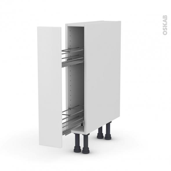 GINKO Blanc - Meuble range épice epoxy  - 1 porte - L15xH70xP58