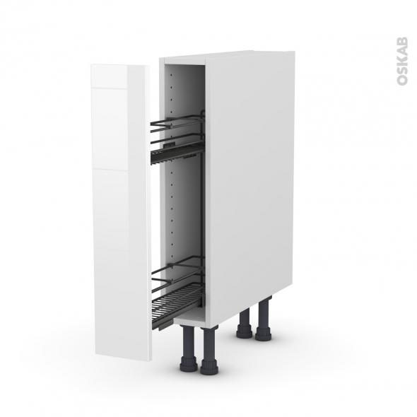 STECIA Blanc - Meuble range épice epoxy  - 1 porte - L15xH70xP58