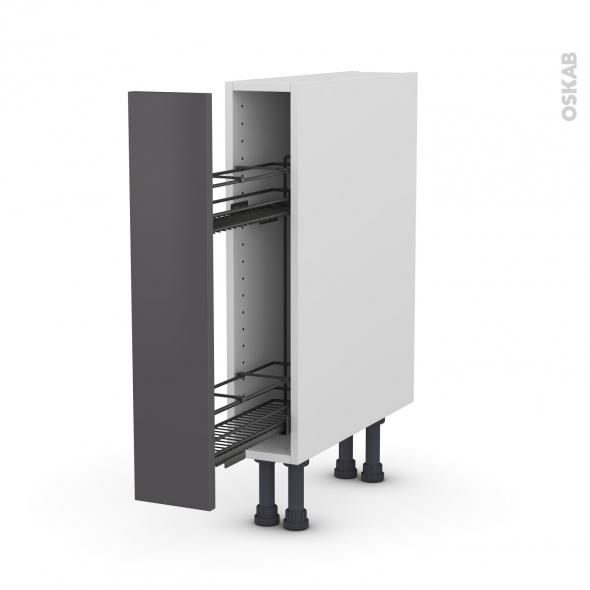 Meuble De Cuisine Range Epice Epoxy Ginko Gris 1 Porte L15 X H70 X P58 Cm Oskab
