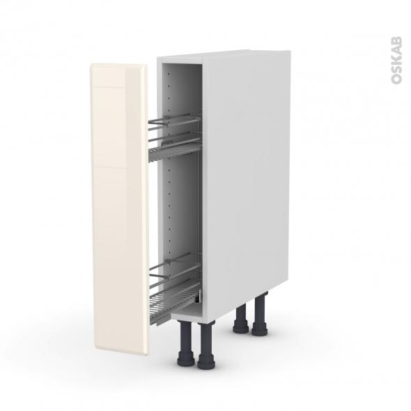 IRIS Ivoire - Meuble range épice epoxy  - 1 porte - L15xH70xP58