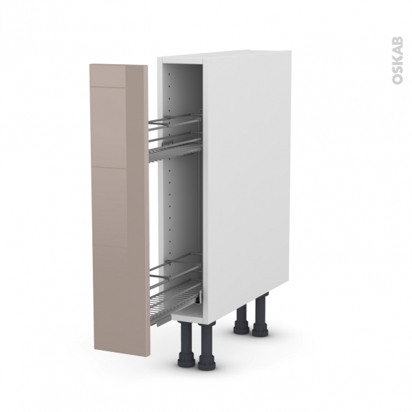 KERIA Moka - Meuble range épice epoxy  - 1 porte - L15xH70xP58