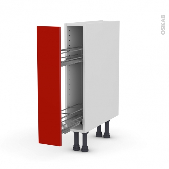 GINKO Rouge - Meuble range épice epoxy  - 1 porte - L15xH70xP58