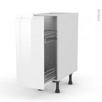 IPOMA Blanc - Meuble range épice epoxy  - 1 porte - L30xH70xP58
