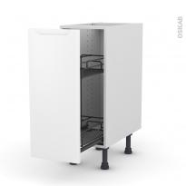 Meuble de cuisine - Range épice epoxy - PIMA Blanc - 1 porte - L30 x H70 x P58 cm