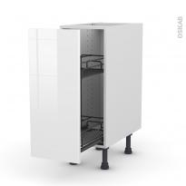 STECIA Blanc - Meuble range épice epoxy  - 1 porte - L30xH70xP58