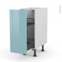 KERIA Bleu - Meuble range épice epoxy  - 1 porte - L30xH70xP58