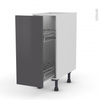 GINKO Gris - Meuble range épice epoxy  - 1 porte - L30xH70xP58