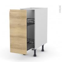 Meuble de cuisine - Range épice epoxy - IPOMA Chêne naturel - 1 porte - L30 x H70 x P58 cm