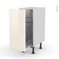 IRIS Ivoire - Meuble range épice epoxy  - 1 porte - L30xH70xP58