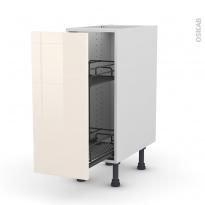 Meuble de cuisine - Range épice epoxy - KERIA Ivoire - 1 porte - L30 x H70 x P58 cm