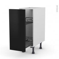 GINKO Noir - Meuble range épice epoxy  - 1 porte - L30xH70xP58