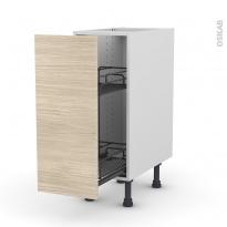 STILO Noyer Blanchi - Meuble range épice epoxy  - 1 porte - L30xH70xP58