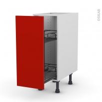 GINKO Rouge - Meuble range épice epoxy  - 1 porte - L30xH70xP58