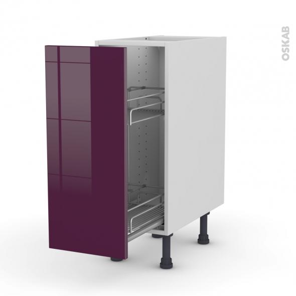 KERIA Aubergine - Meuble range épice epoxy  - 1 porte - L30xH70xP58