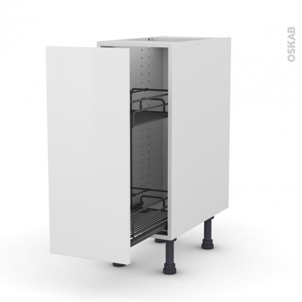 Meuble de cuisine - Range épice epoxy - GINKO Blanc - 1 porte - L30 x H70 x P58 cm