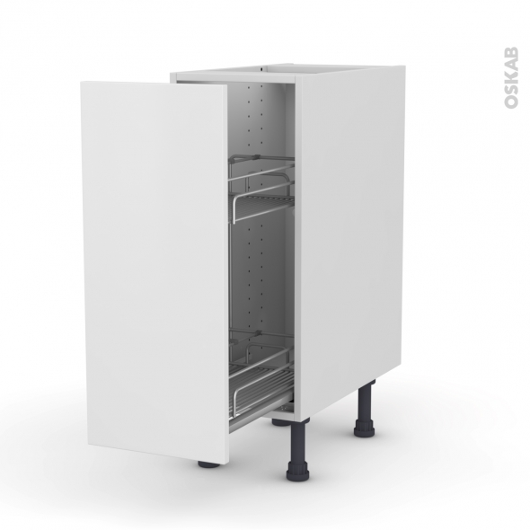 GINKO Blanc - Meuble range épice epoxy  - 1 porte - L30xH70xP58