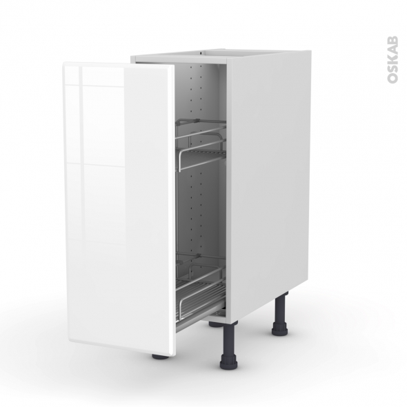 IRIS Blanc - Meuble range épice epoxy  - 1 porte - L30xH70xP58