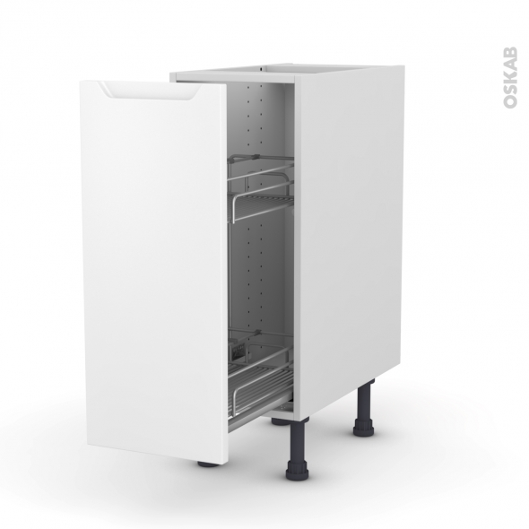 PIMA Blanc - Meuble range épice epoxy  - 1 porte - L30xH70xP58