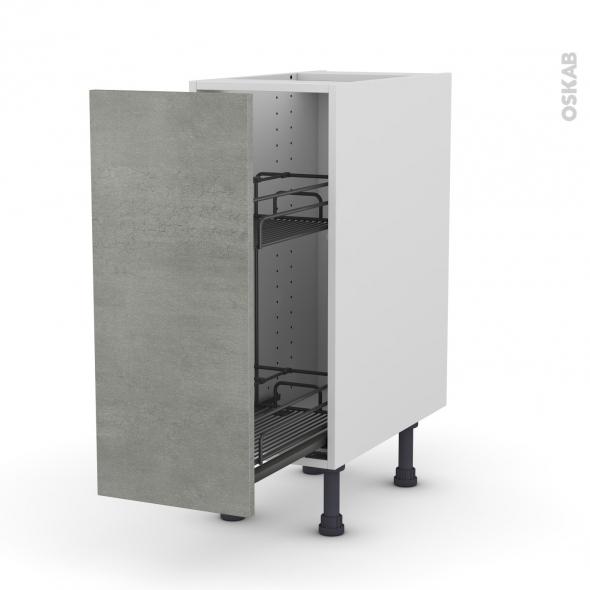 Meuble de cuisine - Range épice epoxy - FAKTO Béton - 1 porte - L30 x H70 x P58 cm