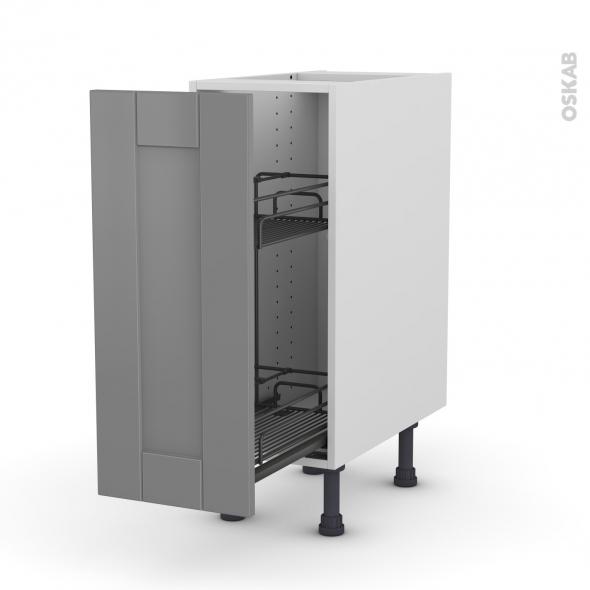 FILIPEN Gris - Meuble range épice epoxy  - 1 porte - L30xH70xP58