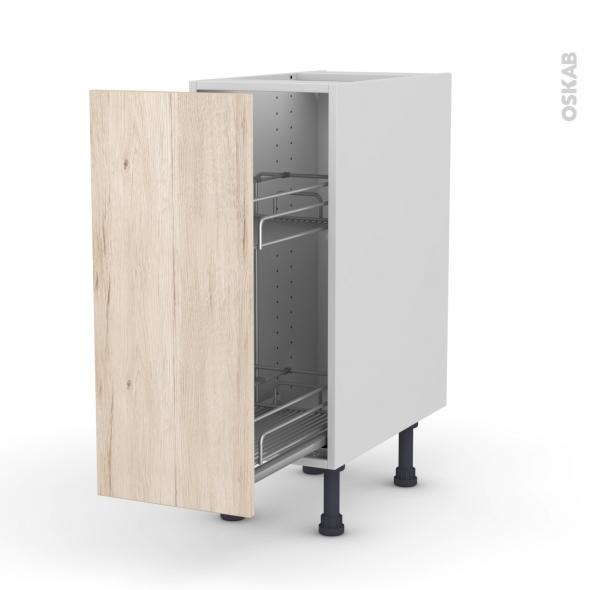 IKORO Chêne clair - Meuble range épice epoxy  - 1 porte - L30xH70xP58