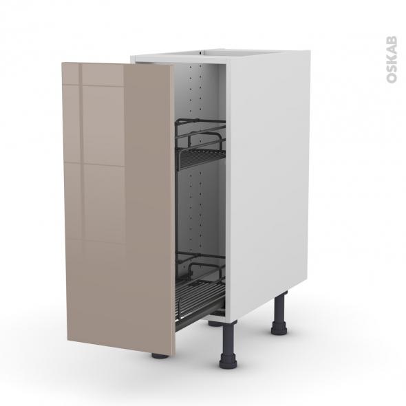 KERIA Moka - Meuble range épice epoxy  - 1 porte - L30xH70xP58