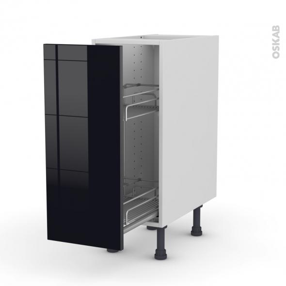 KERIA Noir - Meuble range épice epoxy  - 1 porte - L30xH70xP58