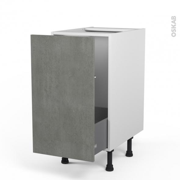 FAKTO Béton - Meuble sous-évier  - 1 porte coulissante - L40xH70xP58