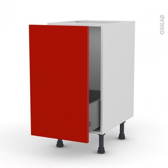 GINKO Rouge - Meuble sous-évier  - 1 porte coulissante - L40xH70xP58