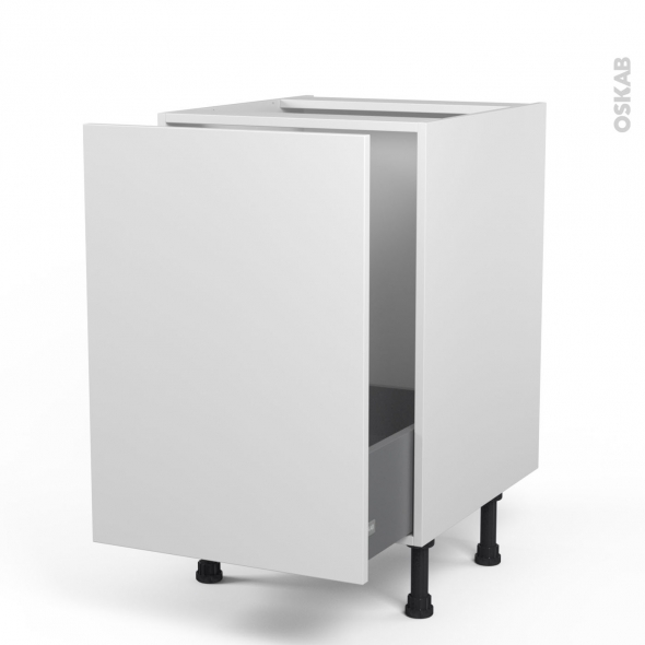 GINKO Blanc - Meuble sous-évier  - 1 porte coulissante - L50xH70xP58