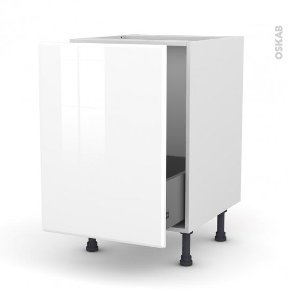 IRIS Blanc - Meuble sous-évier  - 1 porte coulissante - L50xH70xP58